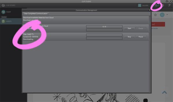 Descargar material en Clip Studio Assets